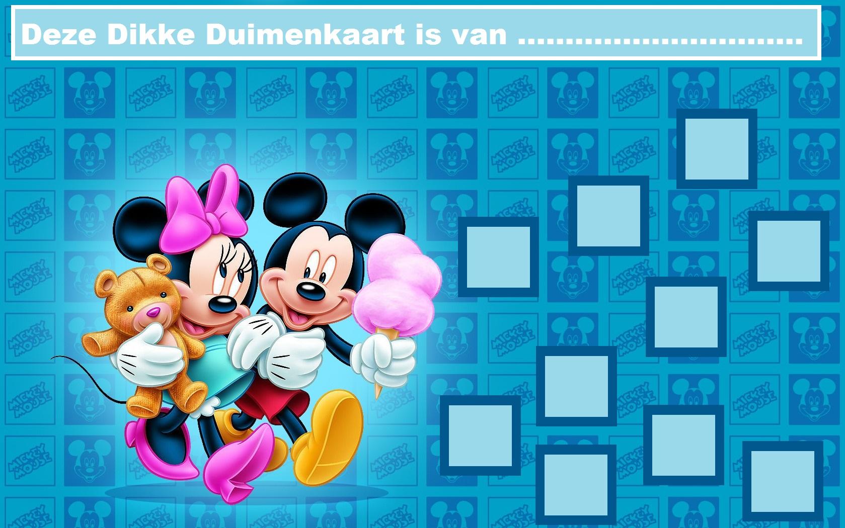Verwonderlijk Mickey Mouse - Website of dikkeduimenkaarten! QK-53